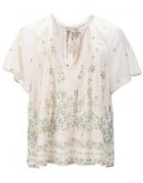Sea floral print sheer blouse