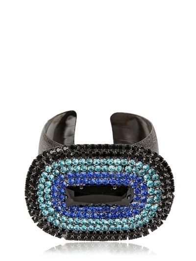 Swarovski Blue & Black Pavé Bracelet
