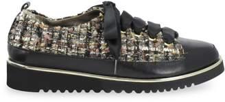 Ron White Women's Novella Boucle Nappa Leather Sneakers