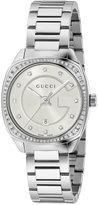 Gucci Women's Swiss GG2570 Diamond (3/8 ct. t.w.) Stainless Steel Bracelet Watch 29mm YA142505