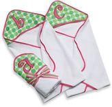 Mud Pie Mud PieTM Pink Initial Hooded Towel