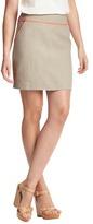 LOFT Tipped Linen Shift Skirt