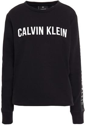 Calvin Klein Printed Cotton-blend Fleece Sweatshirt
