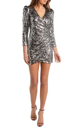 Bardot Sequin Long Sleeve Minidress