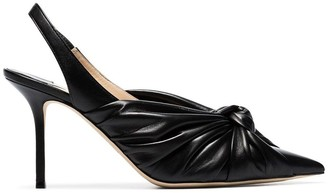 Jimmy Choo black Annabell 85 slingback pumps