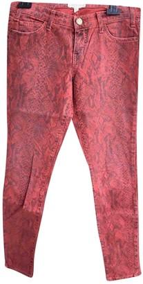 Current/Elliott Current Elliott Red Cotton - elasthane Jeans for Women