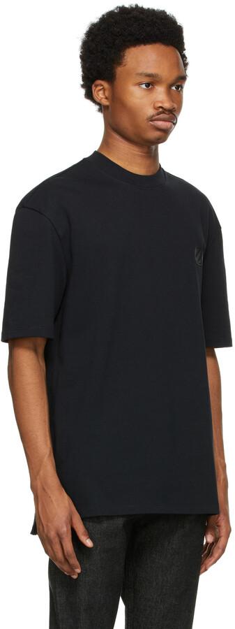 Thumbnail for your product : Ermenegildo Zegna Couture Black Cotton Logo T-Shirt