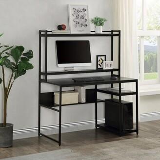 Inbox Zero Home Office Gaming Desk Color: Black