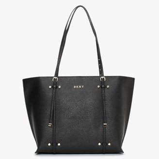 DKNY Bo Saffiano Black Leather Tote Bag