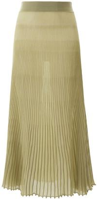 Jacquemus Pleated Sheer Skirt