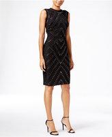 Rachel Roy Double-Zip Embellished Sheath Dress