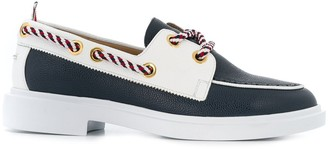 Thom Browne Pebble Leather Boat Shoes