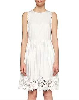 Ted Baker Pipsa White Lace Skater Dress