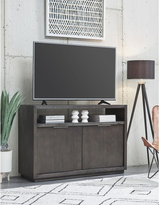 """Modus Furniture International Oxford Solid Wood 54"""" Media Console in Graphite"""