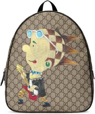 Gucci Children's GG punk print backpack