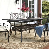 Savannah Extendable Metal Dining Table Darby Home Co