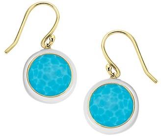 Ippolita Lollipop Carnevale 18K Yellow Gold & Turquoise Doublet Drop Earrings