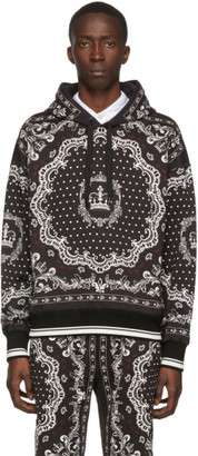Dolce & Gabbana Black and White Bandana Hoodie