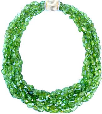Arthur Marder Fine Jewelry 14K 0.50 Ct. Tw. Diamond & Peridot Necklace