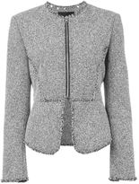 Alexander Wang tweed peplum jacket - women - Cotton/Lamb Skin/Acrylic/Other fibres - 6
