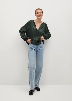 MANGO Satin blouse