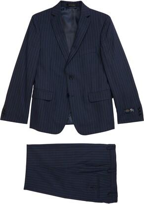 Hart Schaffner Marx Relaxed Stripe Wool Suit