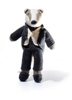 Smallable Crochet Raccoon Soft Toy With Suit