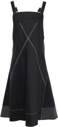 Proenza Schouler Flared Eyelet-embellished Denim Dress