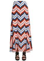 Kenzo Long Silk Skirt