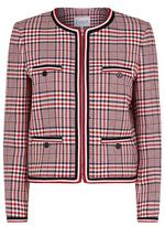 Claudie Pierlot Vanina Checked Zip-Front Jacket