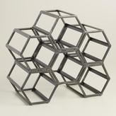 Cost Plus World Market Black Hexagonal Wine Rack