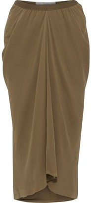 Rick Owens Kite Gathered Silk-chiffon Midi Skirt