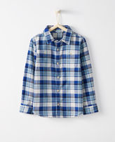 Hanna Andersson Plaid Hipster Shirt In Cotton Flannel