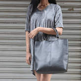 Aura Que Leather Double Handle Sunda Tote Bag