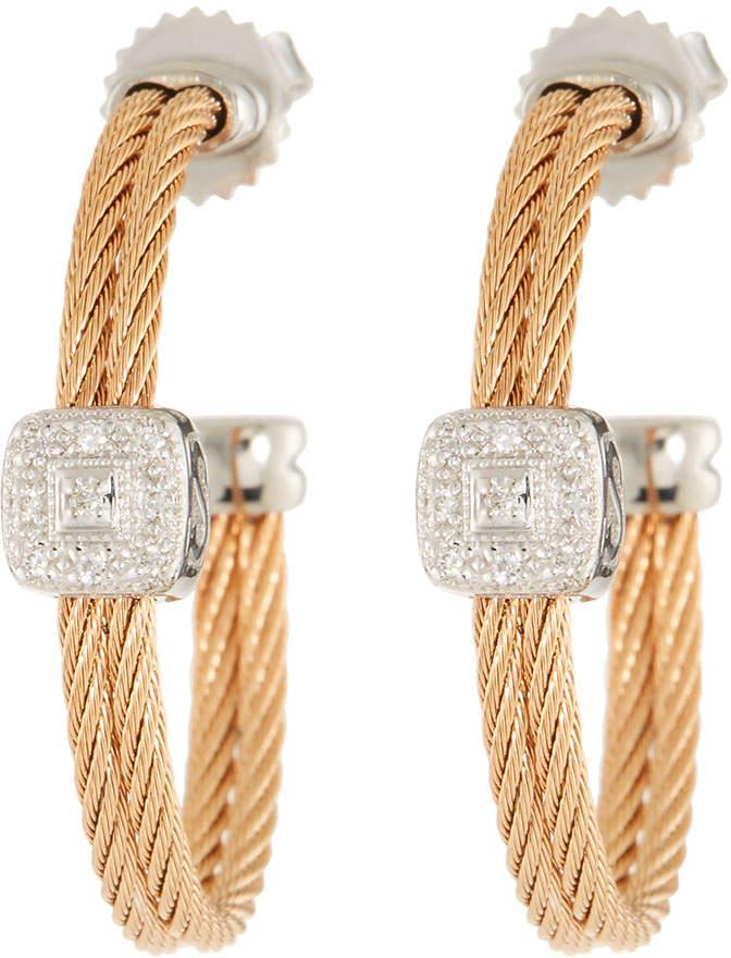 Alor Classique Diamond-Station Hoop Earrings