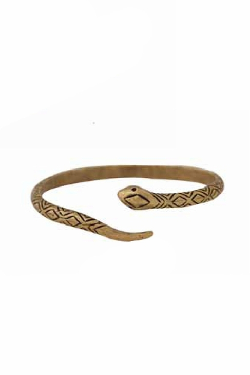 House Of Harlow Engraved Snake Cuff in Gold