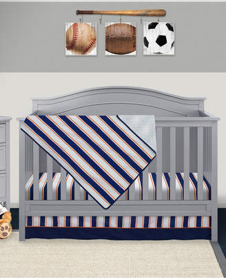 Pam Grace Creations Vintage Like Sports 3 Piece Crib Bedding Set Bedding