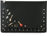 Dolce & Gabbana musical badge clutch - men - Leather/Metal (Other) - One Size