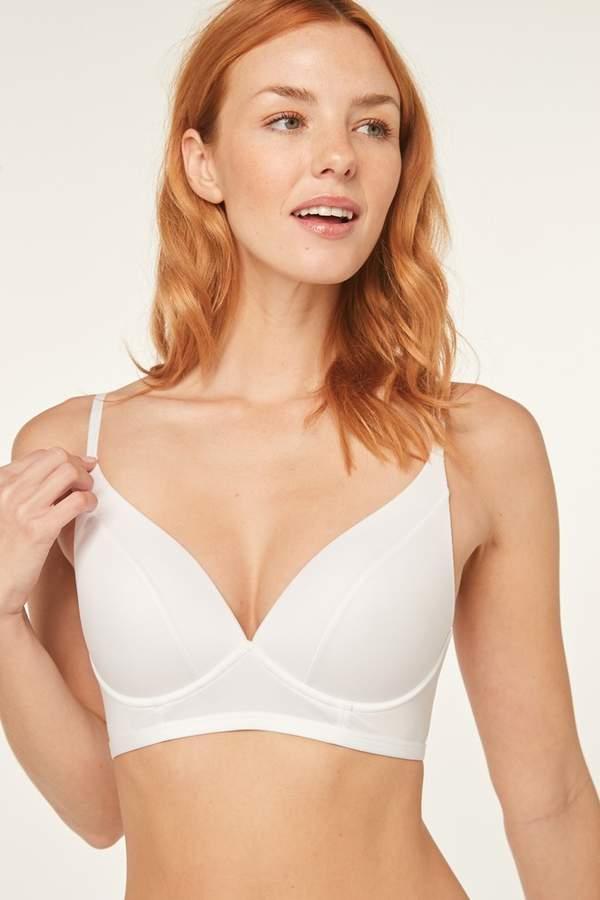 Next Womens White Daisy Lightly Padded Non Wired Bra - White