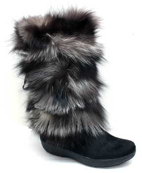 "Tecnica Yaghi 3"" Black Fur Winter Boots"