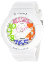 Casio Women's BGA-131-7B3CR Baby-G Analog Display Quartz White Watch