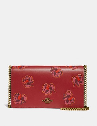 Coach Callie Foldover Chain Clutch With Floral Print