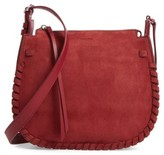 AllSaints Ray Nubuck Crossbody Bag - Red