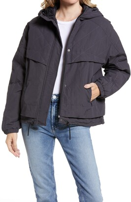 Bernardo Water Repellent Hooded Rain Jacket