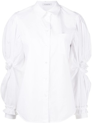 VIVETTA Stretch-Fit Sleeve-Slit Shirt