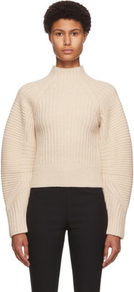 Rag & Bone Beige Wool Oakes Raglan Turtleneck
