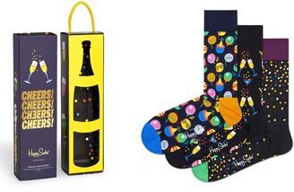 Happy Socks Celebration Assorted 3-Pack Sock Gift Box