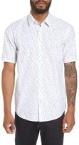 BOSS Men's Luka Regular Fit Print Sport Shirt