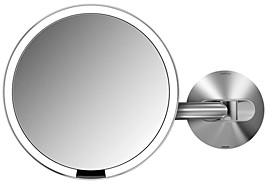 Simplehuman Wall-Mount Sensor Makeup Mirror, 8, 5x Magnificaiton