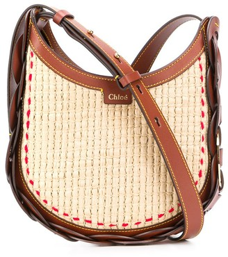 Chloé small Darryl raffia bag